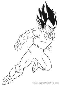 Vegeta - Dragon Ball - disegno da colorare