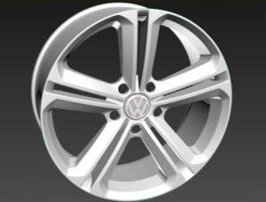 Modeling Volkswagen Passat Alufelga Car Rim in 3ds max