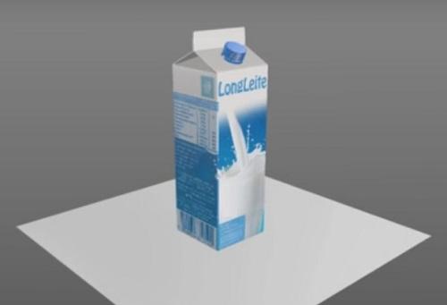 Modeling detailed Milk Carton in Cinema 4D