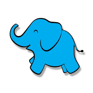 Cute Simple Baby Elephant Free Vector download