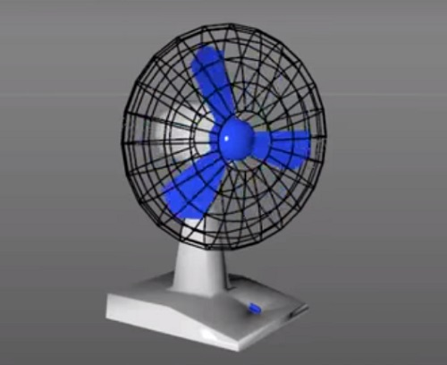 Modeling and Animate a Fun in Cinema 4D