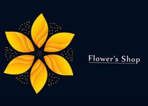 Draw a Gold Flower Logo Design in Illustrator
