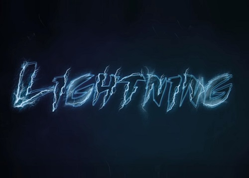Create Lightning Text Effect in Photoshop