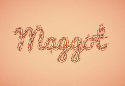 Create a Maggot Text Effect in Illustrator