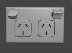 Modeling a Australian Electrical Outlet in 3ds Max