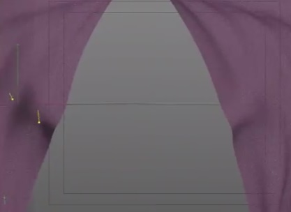 Create Curtain Open with Cloth in Cinema 4D