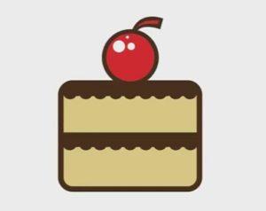Draw Cake Logo Design in Adobe Illustrator