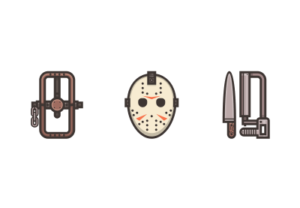 Draw a Friday the 13th Icon Pack in Illustrator