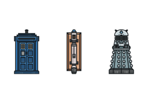 Draw a Doctor Who Icon Pack in Illustrator
