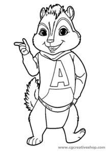 Alvin Superstar, disegno da colorare