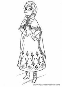 Anna di Frozen (Disney), disegno da colorare