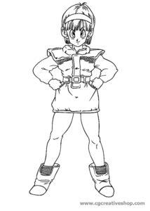 Bulma Brief - Dragon Ball - disegno da colorare