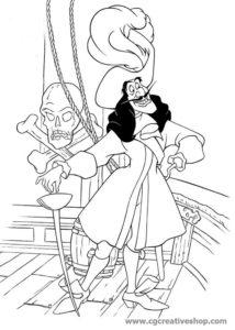 Capitan Giacomo Uncino (Disney), disegno da colorare