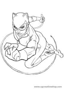 Catwoman (Donna Gatto), disegno da colorare