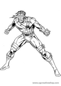 Ciclope - X-Men - disegno da colorare