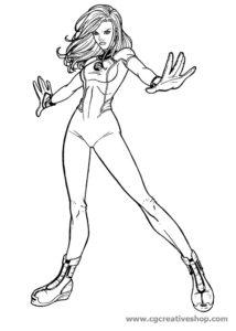 Donna Invisibile - Fantastici 4 - Disegno da colorare