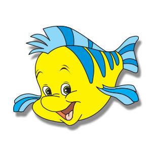 Flounder Fish (Disney) Free vector download