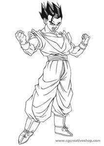 Gohan - Dragon Ball - disegno da colorare