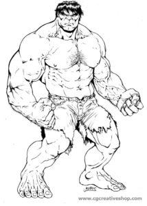 L'incredibile Hulk, disegno da colorare