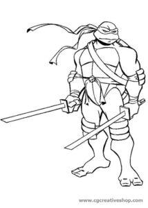Leonardo: Tartaruga Ninja, disegno da colorare