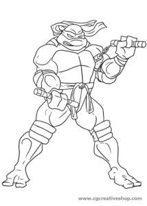 Michelangelo, Tartaruga Ninja da colorare