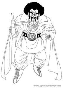 Mister Satan - Dragon Ball - Disegno da colorare