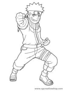 Naruto Uzumaki, disegno da colorare