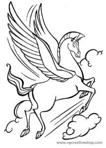 Pegaso: il cavallo di Hercules, disegno da colorare