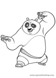 Po - Kung Fu Panda - Disegno da colorare