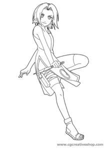 Sakura Haruno - Naruto - Disegno da colorare