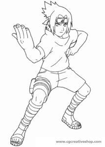 Sasuke Uchica - Naruto - Disegno da colorare