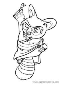 Maestro Shifu - Kung Fu Panda - Disegno da colorare