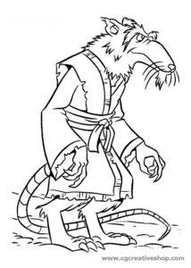 Maestro Splinter - Tartarughe Ninja - disegno da colorare
