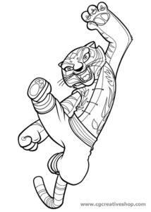 Tigre - Kung Fu Panda - Disegno da colorare