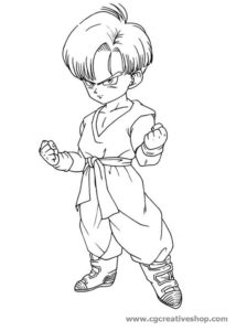 Trunks - Dragon Ball - disegno da colorare