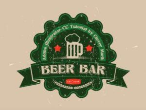 Draw a Vector Retro Logo Bar in Adobe Illustrator
