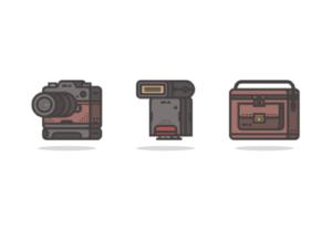 Draw a Retro Camera Icon Pack in Illustrator