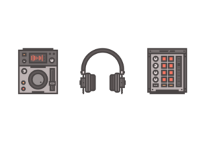 Draw a DJ Themed Icon Pack in Illustrator