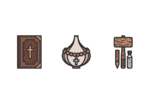 Draw a Vampire Hunter Icon Pack in Illustrator