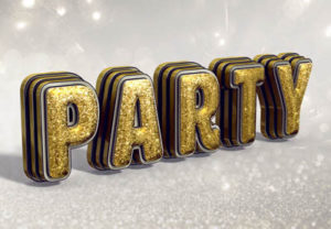 Create a Glittering Festive 3D Text in Photoshop