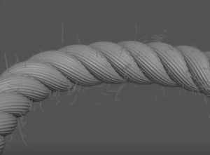Create a Frayed Rope with Splines in 3ds Max