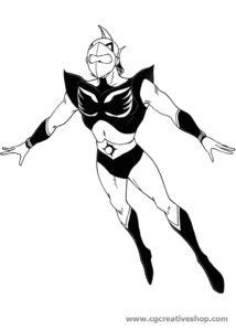 Actarus - Goldrake - disegno da colorare