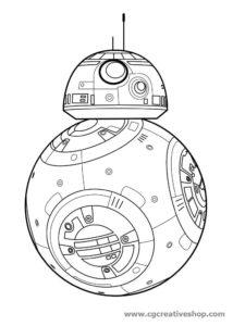 Robot BB-8 - Guerre Stellari - disegno da colorare