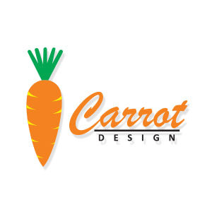 Simple Vector Carrot Logo Free