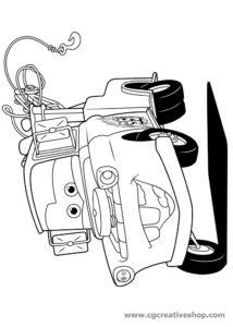 Carl Attrezzi ''Cricchetto'' (Cars), disegno da colorare