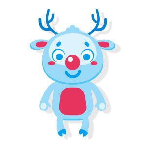 Vector Christmas Deer Free download