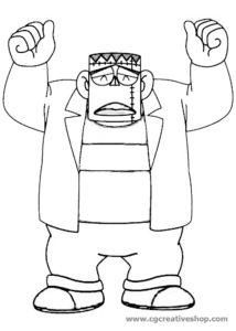 Frankenstein - Carletto Principe dei Mostri - disegno da colorare
