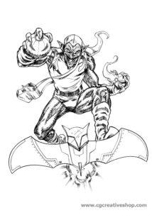 Green Goblin - Spiderman - disegno da colorare