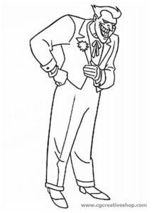 Joker il nemico di Batman, disegno da colorare