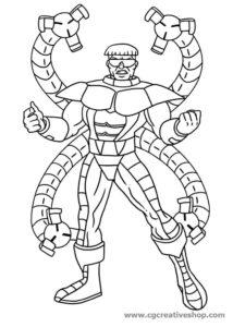 Dottor Octopus - Spiderman - disegno da colorare